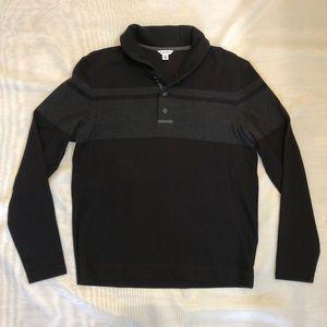 Men's Calvin Klein 2-Button Collared Sweater